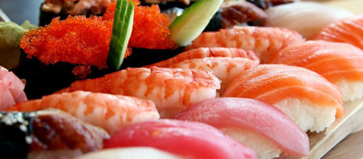 Enjoy sushi and other Asian cuisine at Asia Bistro, one of Pentagon Row's many restaurants in Arlington, VA